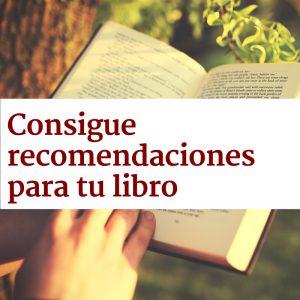 Consigue recomendaciones para tu libro