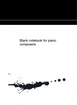Libro Blank notebook for piano composers., autor JOSÉ REMIGIO GOMIS FUENTES
