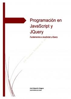 Programación en JavaScript y JQuery