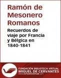 Recuerdos de viaje por Francia y Bélgica en 1840-1841
