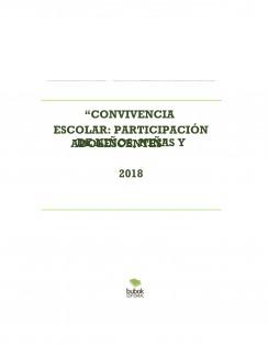 """""""CONVIVENCIA ESCOLAR: PARTICIPACIÓN DE NIÑOS, NIÑAS Y ADOLESCENTES"""" 2018"""