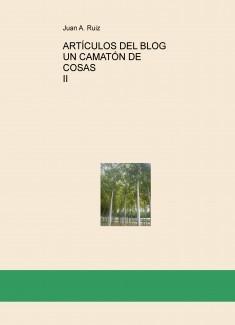ARTÍCULOS DEL BLOG UN CAMATÓN DE COSAS II