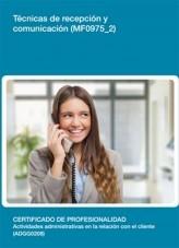 Libro MF0975_2 - Técnicas de recepción y comunicación, autor Editorial Elearning