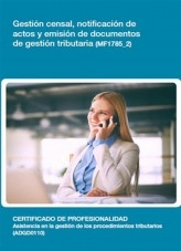 Libro MF1785_2 - Gestión censal, notificación de actos, autor Editorial Elearning