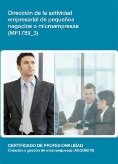 MF1789_3 - Dirección de la actividad empresarial de pequeños negocios o microempresas