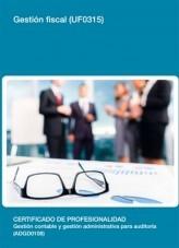 Libro UF0315 - Gestión fiscal, autor Editorial Elearning