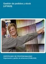 Libro UF0929 - Gestión de pedidos y stock, autor Editorial Elearning