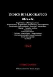 ÍNDICE BIBLIOGRÁFICO Obras de Espiritismo y Metapsiquismo. Hipnotismo, Magnetismo, Sugestión y Autosugestión. Ocultismo, Orientalismo, Teosofía y Misticismo. Magia y Ciencias ocultas. Masonería...