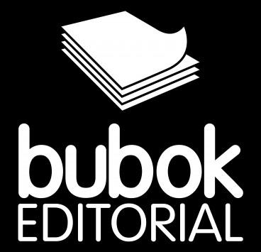 Logo editorial en negativo